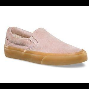 Vans Fuzzy Suede Slip Ons